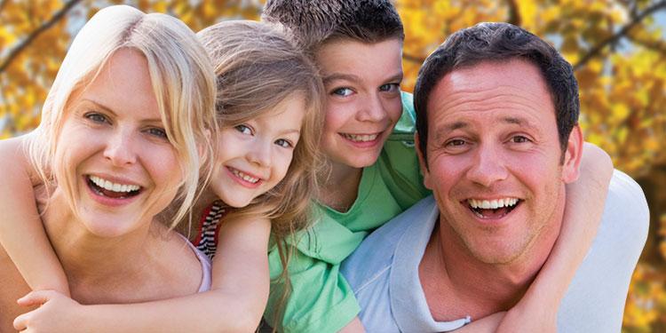 happy martial arts family